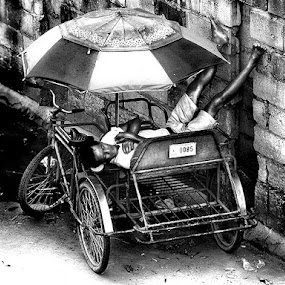 Pedicab Driver by Dominic Meily - News & Events World Events ( dominic meily, sidecar, pedicab, dominicmeily )