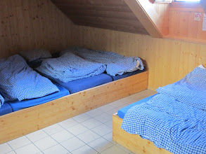 Photo: Our rooms are spotless and cozy. Love these Swiss mountain huts!