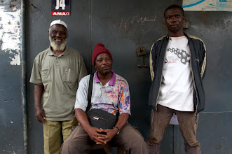 Photo: Aboyki (r) with master and brother. Generations of bike mechanics
