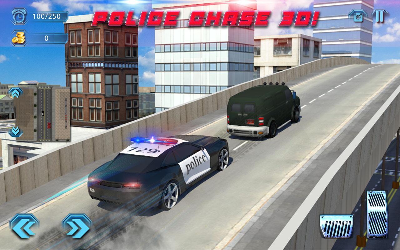 Police chase in car screenshot