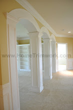 Photo: (After) Young's Upper hallway square columns with arches Warminster,  PA