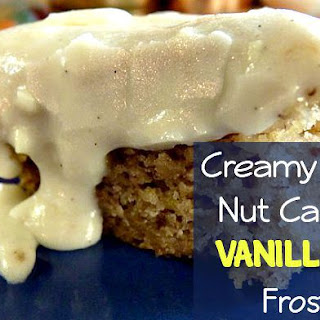 Creamy Banana Nut Cake with Vanilla Bean Frosting!