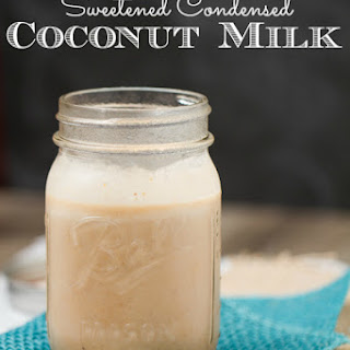 Pumpkin Spice Sweetened Condensed Coconut Milk.