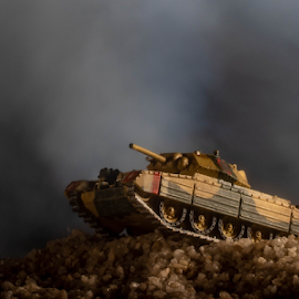 Miniature Tank by Hannes Kruger - Artistic Objects Toys ( army, battle, macro, war games, tank, toy )