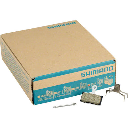 Shimano G02A Resin Disc Brake Pads and Spring, 25 Pairs