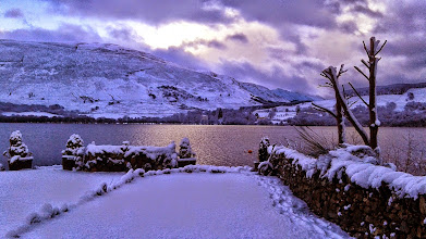 Photo: Petanque Piste in snow, Loch Earn www.stayatbriar.co.uk