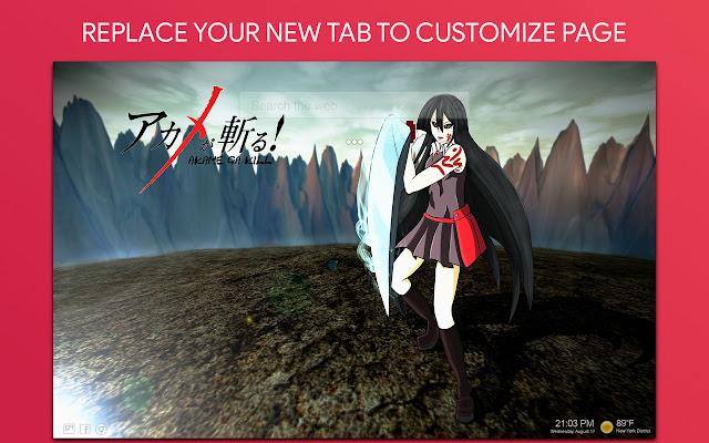 Akame Ga Kill Wallpaper HD Custom New Tab