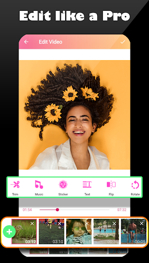 Video star editor ⭐ Pro video & photo editing 2020 screenshot 2