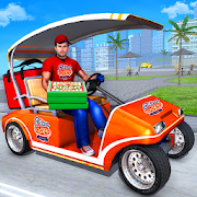 New Taxi Car Pizza Delivery Games 2020: Smart Taxi