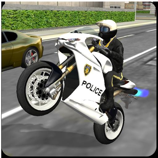 Police Bike City Driving