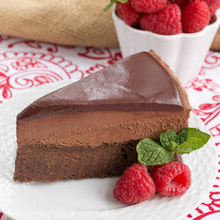 Frozen Chocolate Mousse Cake.