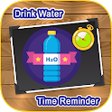 Drink water time and reminder icon