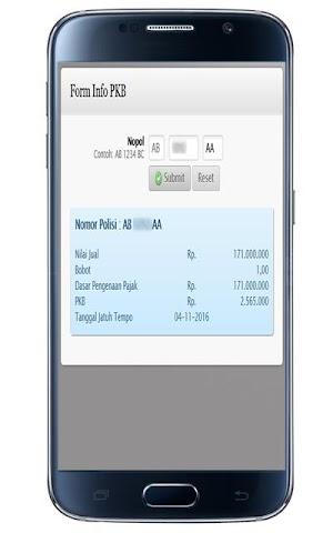 android CEK PAJAK KENDARAAN YOGYAKARTA Screenshot 0