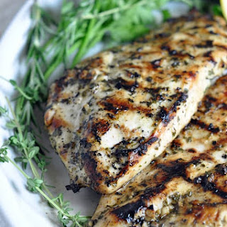 Grilled Chicken Breasts with Herbs and Lemon Recipe