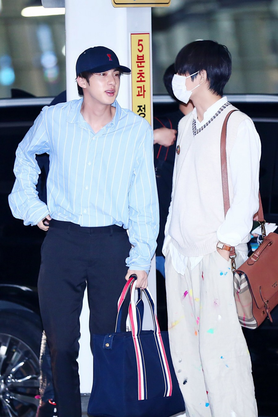 bts jin airport fashion regret 2