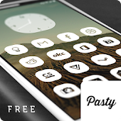 Pasty Free - White Icon Pack