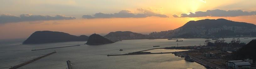 Photo: Sunset from Oryukdo SK View, Busan