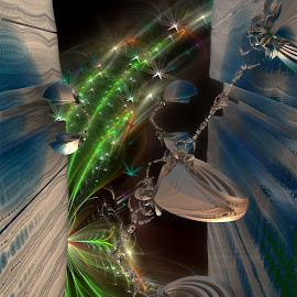 Crevice Technology by Rick Eskridge - Illustration Sci Fi & Fantasy ( fantasy, jwildfire, mb3d, fractals, twisted brush )