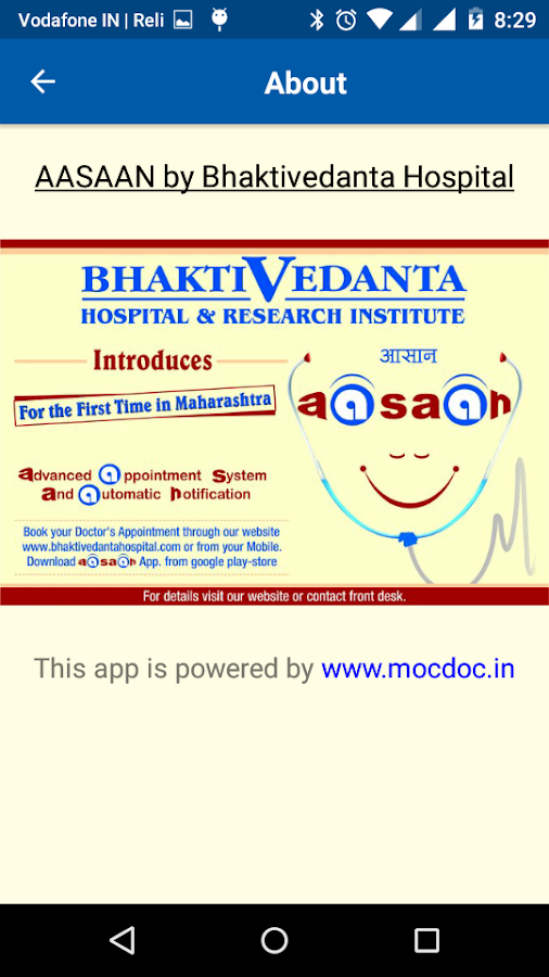 New AASAAN - Bhaktivedanta Hospital- screenshot