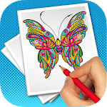 butterfly coloring for adult 1.0