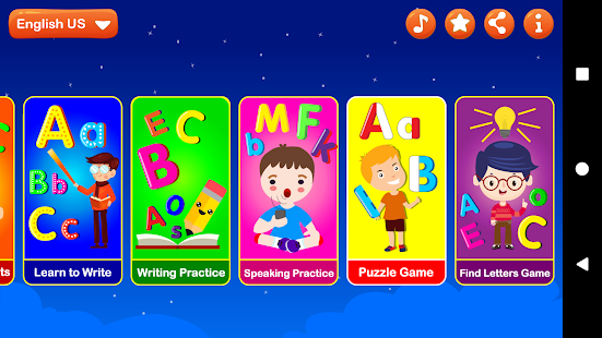 ABC Learning Letters Kids Games - náhled