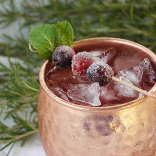 Spiced Cranberry Mule.