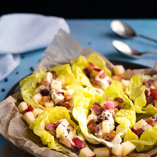 Slab Bacon and Apple Lettuce Wraps.