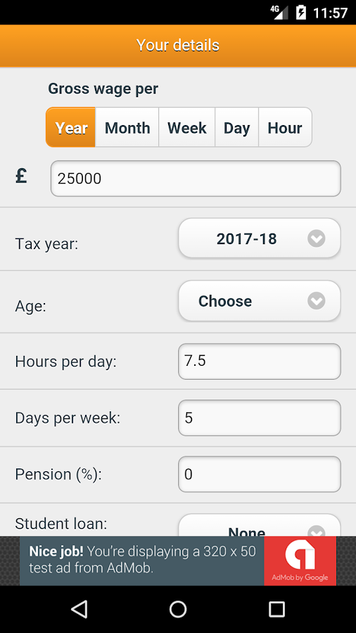 SalaryBot Salary Calculator- screenshot
