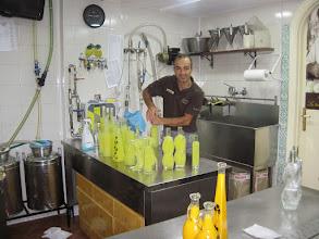 Photo: Making limoncello