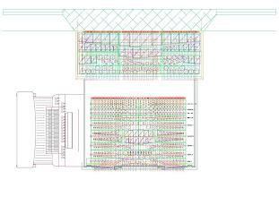 Photo: Tlorisni načrt sapnic in igralnika - Grundrissplan der Windladen und des Spieltisches - Layout plan of the windchests and console