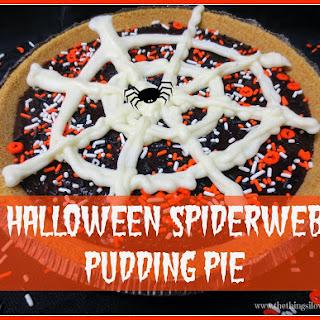 Halloween Spiderweb Pudding Pie