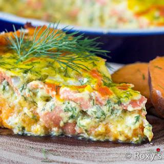 Smoked Salmon Tart with Sweet Potato Crust Recipe