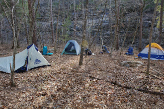 Photo: Camping in Leatherwood Wilderness Area