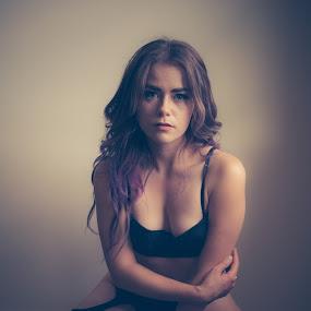 by Derek Martin - Nudes & Boudoir Boudoir ( face, natural light, yyc, model, boudoir, beauty, elp, portrait, eyes, classy, lingerie, female, elegant, 403, hair )