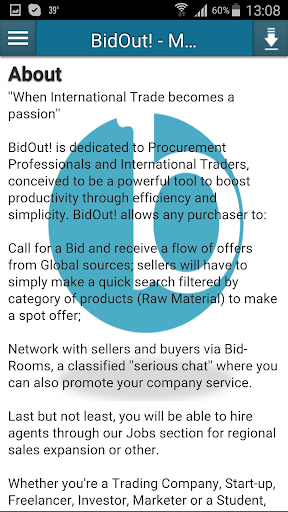 BidOut - Raw Material Trade