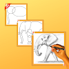 How to draw elephant step by step free APK Icon