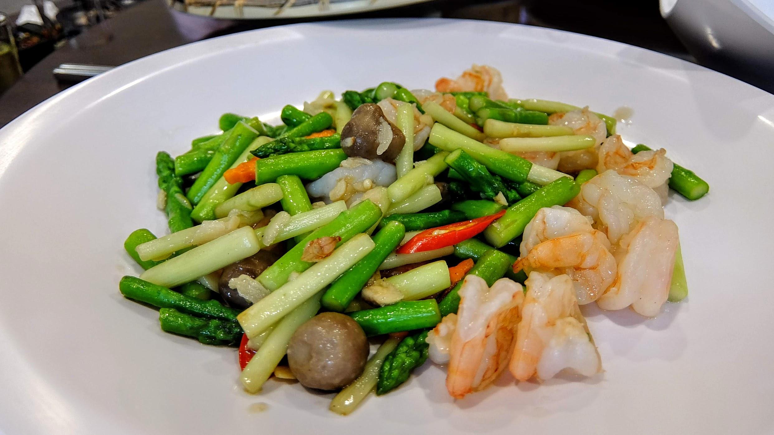 清炒蘆筍蝦仁