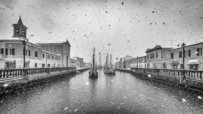 Neve a Cesenatico di Marcello Zavalloni