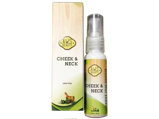 Cheek Neck AWS BEAUTY lotion aws penirus pipi leher mengencangkan kulit meniruskan wajah tirus