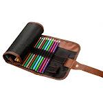 Canvas rollup pencil case with sturdiness guaranteed