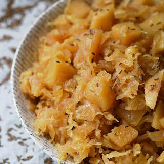 Autumn Crockpot Apple Sauerkraut.