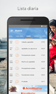 AccuWeather Tiempo: miniatura de captura de pantalla