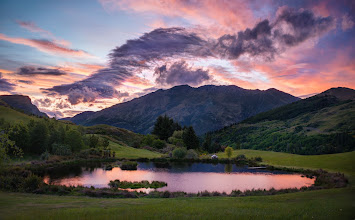 Photo: A sunset near my home in Queenstown, New Zealand