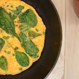 Scrambled Egg with Spinach.