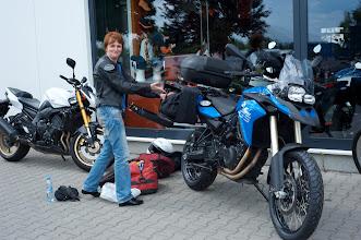 Photo: Loading just rented bike in Frankfurt