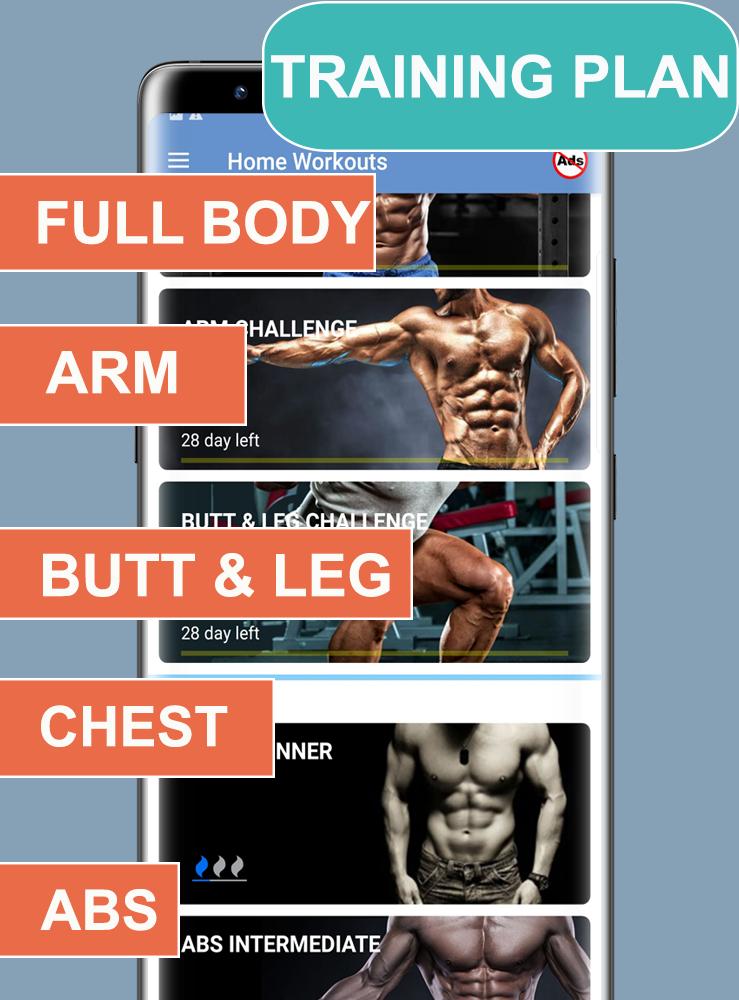 Home Workouts Gym Pro (No ad) Screenshot 3