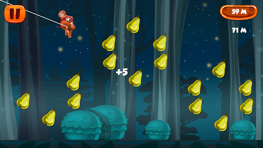 Flying with Rope Bear Game screenshot 2