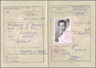 Photo: Livret Militar - 1959 - Remus Jercau fost consilier local (1992-2000) -  Turda  https://plus.google.com/u/0/photos/102985115859967760975/album/6639687333455220529?authkey=CJ_x572OmdSIMg   http://ana-maria-catalina.blogspot.com/2017/12/remus-vasile-stefan-jercau-1925-2017.html