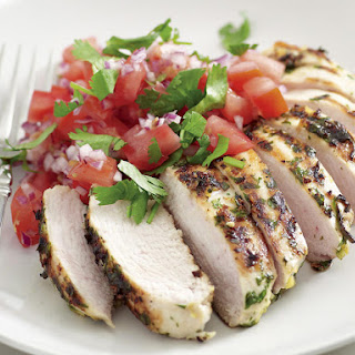 Grilled Chili Chicken with Tomato Salsa.