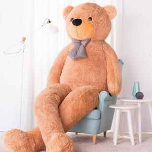 Urs de plus gigant 180 / 250 cm. Crem, Maro